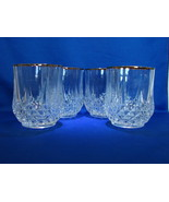 4 Longchamp  Gold Old Fashioned Glasses by Cristal d'Arques Circa: 1995 ... - $9.99