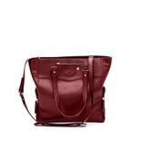Josephine (Burgundy) Breast Pump Bag Purse by Caroline 220 / 6 pieces pe... - $174.99
