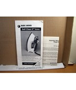 Manual Black & Decker Self Clean II Irons Model F340BD Pub. No 91/550921... - $8.99