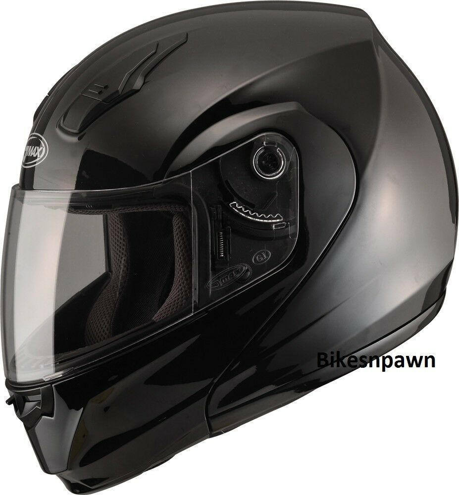 3XL GMax MD04 Gloss Black Modular Street Motorcycle Helmet DOT