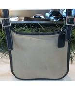 Coach Small Canvas Twill Hippie 8114 Slim Flap Saddle Crossbody Bag Vtg ... - $32.00