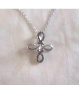 GND Silver HOPE & FAITH FOREVER crystaled infinity on fine link chain. G... - $3.95