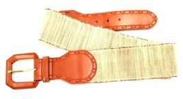 Lauren Ralph Lauren Leather Stretch Belt Natura... - $28.79