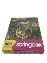 """Springbok Blooming Cart 500 Piece Jigsaw Puzzle Flowers 20"""" X20"""" Sealed - $15.88"""