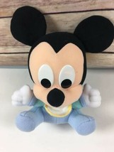 "Vtg Disney Babies Plush Baby Mickey Mouse Rattle Stuffed Toy 7"" Dundee - $44.50"