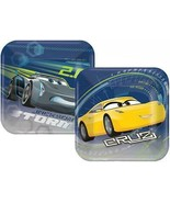 Disney Cars 3 Dessert Cake Plates Birthday Party Supplies 8 Per Package New - $3.55