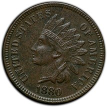 1880 Indian Head Cent Coin Lot# A 284