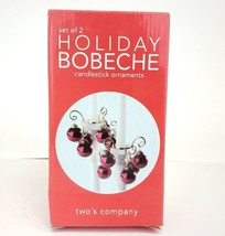 Holiday Bobeche Candlestick Ornaments Red Set of 2 Two's Company - $9.98