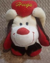 "Animal Adventure Puppy Dog Heart Hugs Sparkle 10"" Plush Red Brown Stuffe... - $8.90"