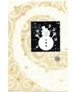 Shiny Golden Silver Snow Flex Happy Snow Man Christmas Holiday Seasons G... - $14.36