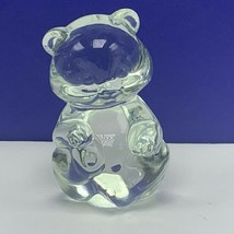 Fenton glass teddy bear figurine birthday stone sculpture depression irr... - $33.66