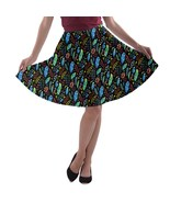 Women's Feathers Printed Elastic Stretchy Flared A-Line Skater Skirt Siz... - $28.99+
