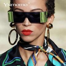 YUMOMO Fashion Oversized Square Rimless Sunglasses Women Brand Designer Flat Big