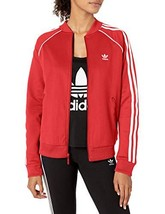 adidas Originals Women's Superstar Track Top Jacket (Medium|Scarlet) - $53.24