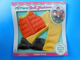1982 FISHER PRICE MY FRIEND 230 WINTER WEAR OUTFIT Quilted vest Pant & B... - $28.71
