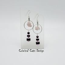 """Rose Quartz Earrings """"The Hunt for Pink October"""" OOAK - £14.53 GBP"""