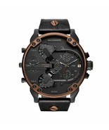 Diesel DZ7400 Mr. Daddy Copper & Black Leather Men's Watch - ₹10,525.68 INR