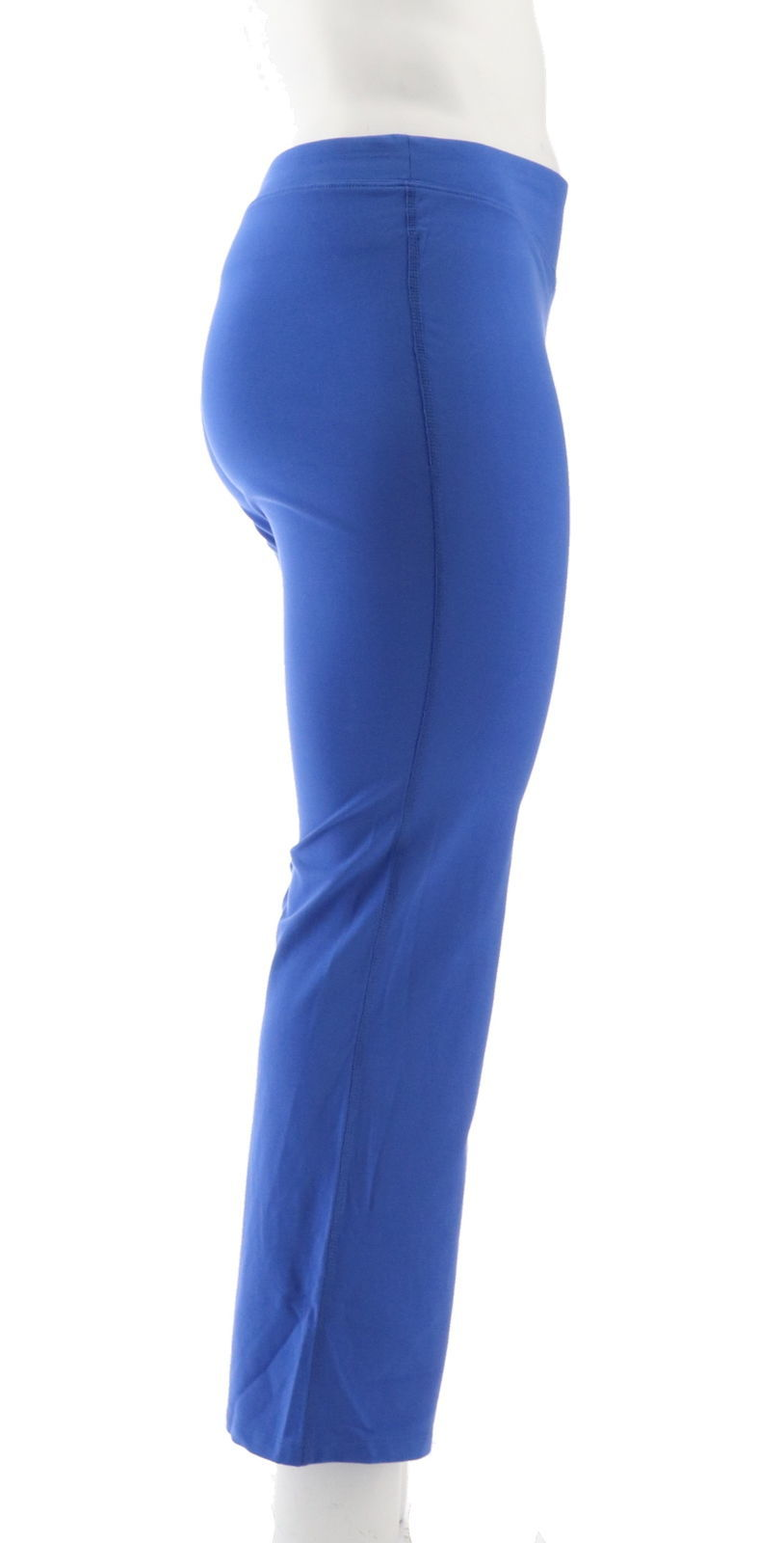 Denim & Co Duo-Stretch Slightly Boot Cut Pants Vibrant Blue L NEW A261851