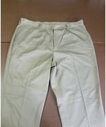 LADY EDWARDS WOMEN'S PANTS UNHEMMED TAN POLYESTER COTTON SIZE 20W UR RN2... - $12.73