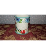 PIONEER WOMAN STONEWARE UTENSIL HOLDER FLORAL DESIGN MELODY FLORAL DESIG... - $19.79