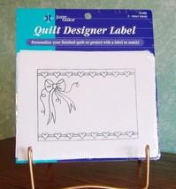 JUNE TAYLOR QUILT DESIGNER LABEL SET OF TWO HEA... - $2.99