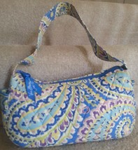 Vera Bradley Maggie Style Capri Blue Paisley Hand Bag Retired OOP Vera B... - $17.99