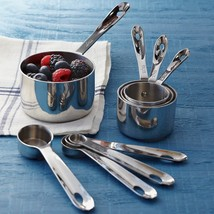 All-Clad Stainless-Steel Measuring Cups & Spoons Set of 8 stainless stee... - $150.00