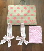 4 Bundle Victoria's Secret Paper Shopping Bag Gift Wrap,Bow,Paper Ship F... - $15.95