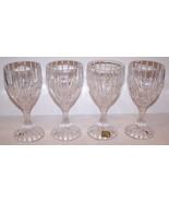 """STUNNING SET OF 4 MIKASA CRYSTAL PARK LANE 6 3/8"""" WINE GLASSES - $46.27"""