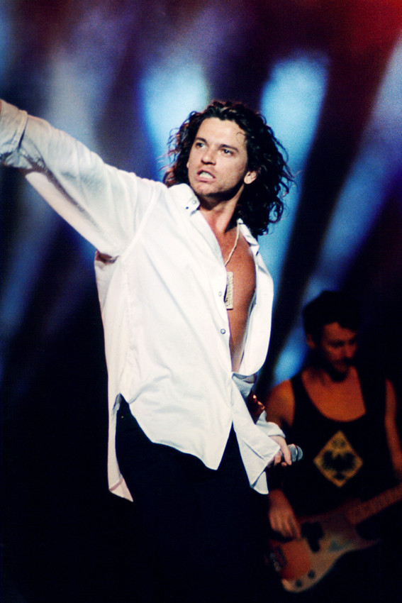 Primary image for Inxs Michael Hutchence in concert pose 18x24 Poster