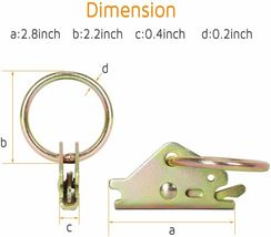 Trekassy E-Track Tie Down Kit, 8 O-Ring Anchors and 8 Rope Tie Offs, Tie Down image 4