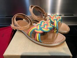 Christian Louboutin Brown Ella Braided Sandals New - $829.00