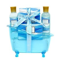 Spa Gift Baskets for Women, Body & Earth Bath Gift Set with Tub, Gifts for Her,  image 1