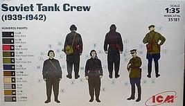 ICM  1/35 Kit 35181, 3 Soviet Tank Crew  Figures (1939-1942) image 2