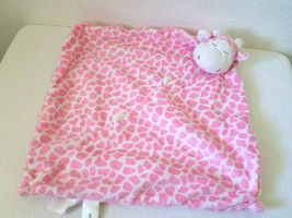 Angel Dear Giraffe Cow Baby Security Blanket Lovey Pink White - $9.40