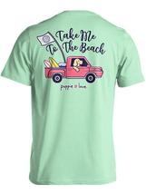 Puppie Love Rescue Dog Men Women Short Sleeve Graphic T-Shirt, To The Beach Pup