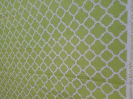 Fabric-Lime Green Quatrefoil-Bloom Designs for Mod Kid Studio DC6670 - $6.80