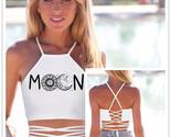Womens Summer Tops Sun Moon Horoscope Halter Corset Workout Crop Tops for Women