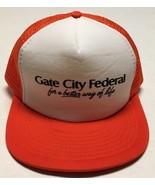 Vtg Gate City Federal Trucker Hat Fargo North Dakota Cap Banking Financi... - $25.24