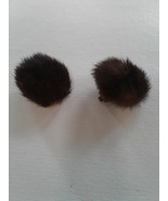 Vintage Mink Fur Clip Earrings - $25.00