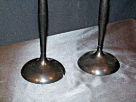 Red Cut Glass Candlestick Holders AB 312 Vintage image 7