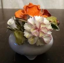 royal adderley floral orange rose china figurine - $20.00