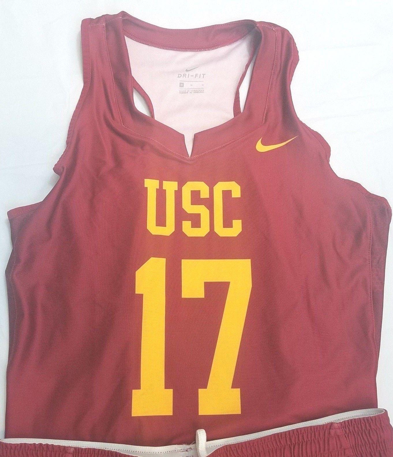 Nike USC Womens Lacrosse Team Uniform Skirt Jersey M Medium 2018
