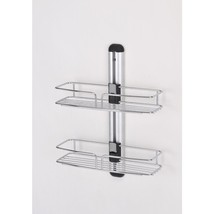 Chromed Wire Metal Space Saver caddy bathroom Rack - $16.78