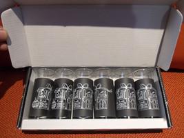 Shot Glasses Set Of 6 2OZ By Luminarc Eat, Drink, & Be Merry Brnad New - $34.00