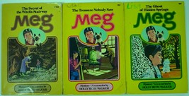 Meg Series Mystery 3 LOT # 2, 3, & 4 Witch's Stairway Treasure Nobody Sa... - $6.99