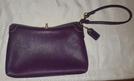 Coach Hamptons berry purple leather turnlock wristlet 41503 - $34.00