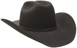 Bailey Western Men's Lightning Cowboy Hat, Steel, 6 7/8 Wool and Angora ... - £45.64 GBP