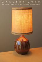 MID CENTURY DANISH MODERN BROWN GOLD GLAZED DRIP LAMP! Eames 50's Vtg At... - €1.417,97 EUR