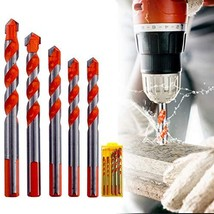 Masonry Drill Bits Set,Ultimate Punching Drill Bits Set,Triangular-Overl... - $15.99